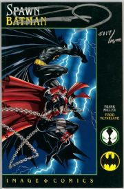 Spawn Batman One Shot Dynamic Forces Signed Frank Miller DF COA Image comic book